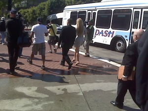 Denise Richards Leaving the Courthouse