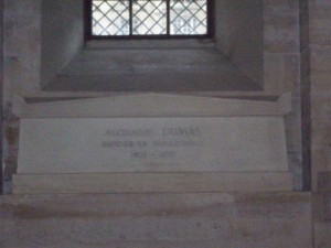 The final resting place of Alexander Dumas